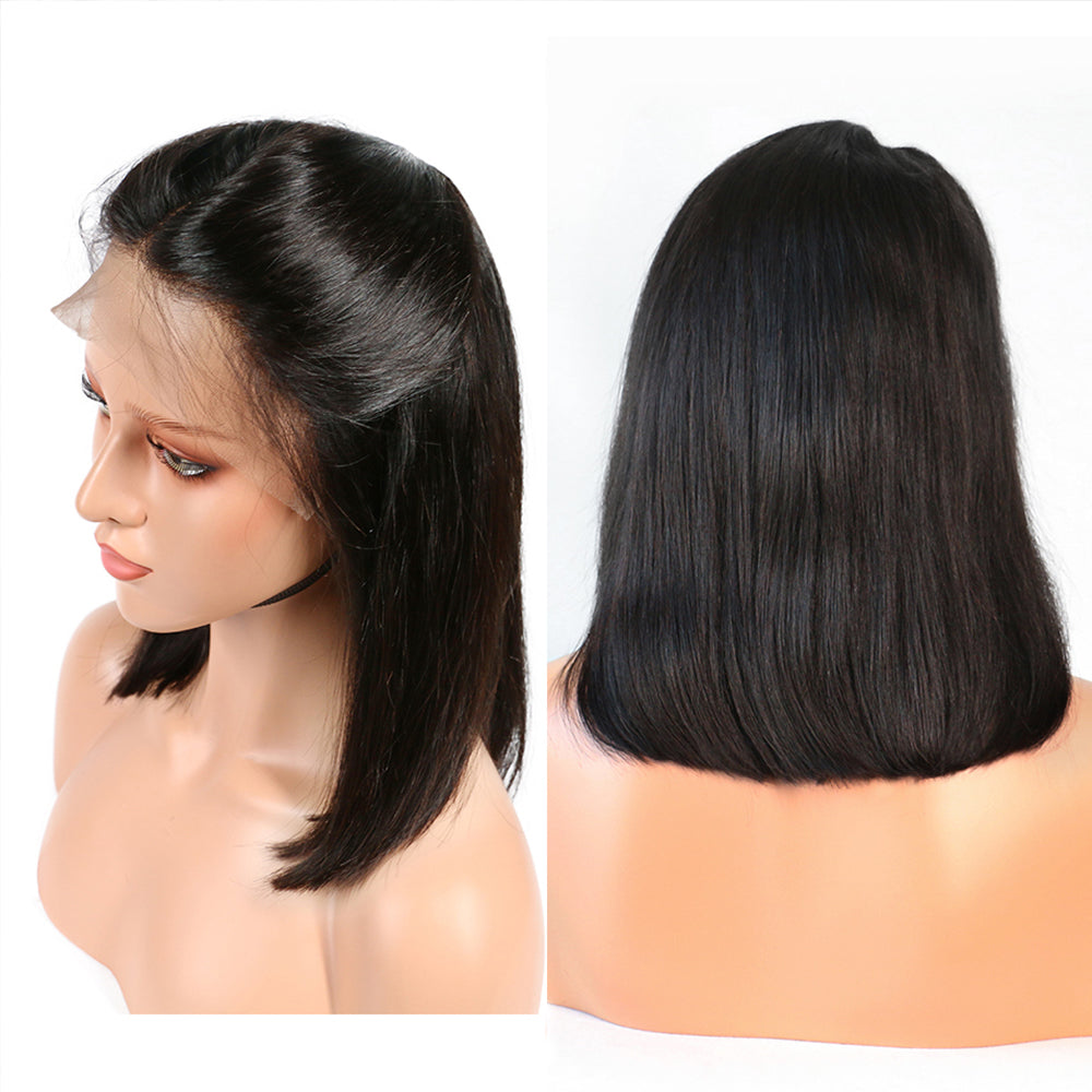Best Black Bob Wigs with Invisible Skin Melt Frontal Lace Free & Deep Part for Women