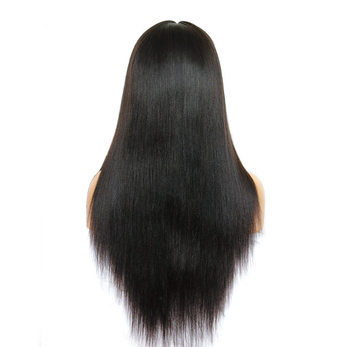 """Abby"" Beginner Whole Bleached Long Straight Lace Front Wig"