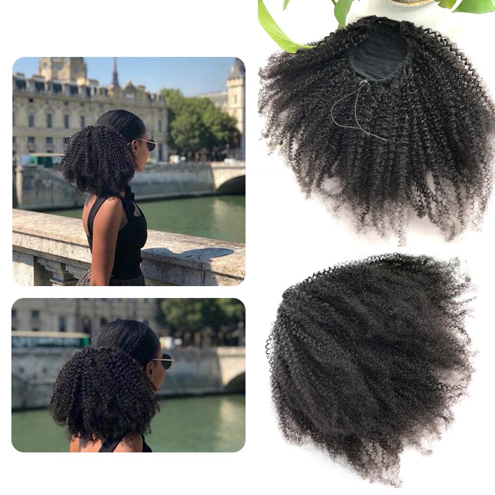 """Jennifer"" Drawstring Ponytail Afro Kinky Curly Hair Extension"
