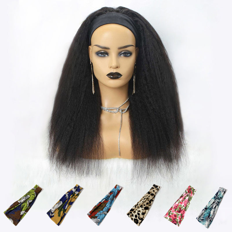 Grab-N-Go Headband Wigs 100% Yaki Virgin Human Hair Wigs