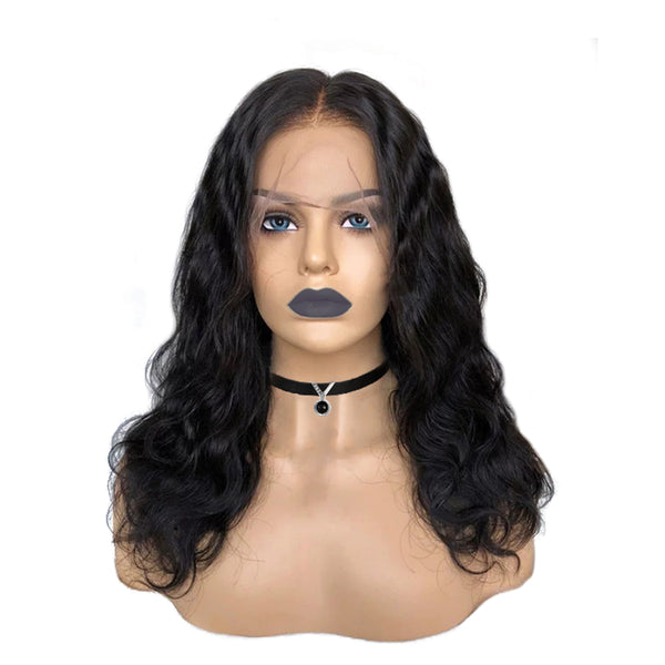 Pre-made Fake Scalp Body Wavy Lace Front Wig