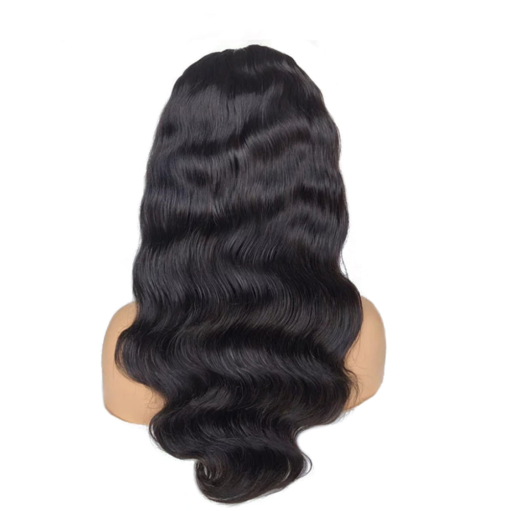 """Veronica"" No Baby Hair Whole Bleached Body Wavy Lace Front Wig"