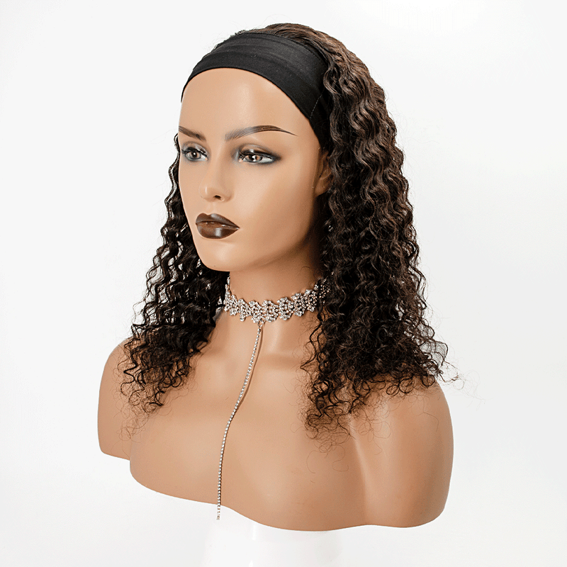 Grab-N-Go Headband Wigs 100% Deep Wave Human Hair Wigs