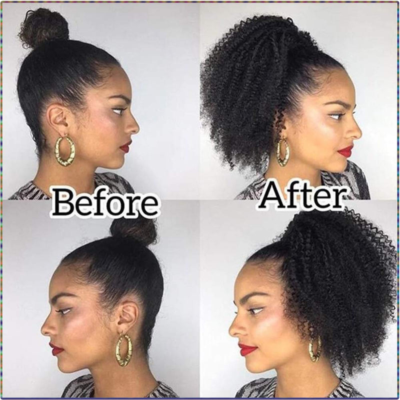 """Sienna"" Drawstring Ponytail Kinky Curly Hair Extension"
