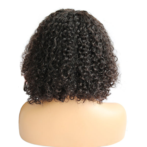 250% Pre-Plucked Deep Curly Side Part Bob Wigs
