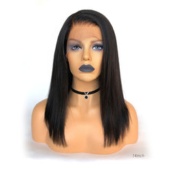 Fake Scalp Short Straight Lace Frontal Wig Pre-bleached