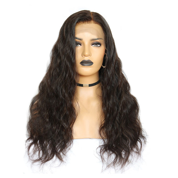"""Sarah"" Transparent Whole Bleached Body Wavy Lace Front Wig"