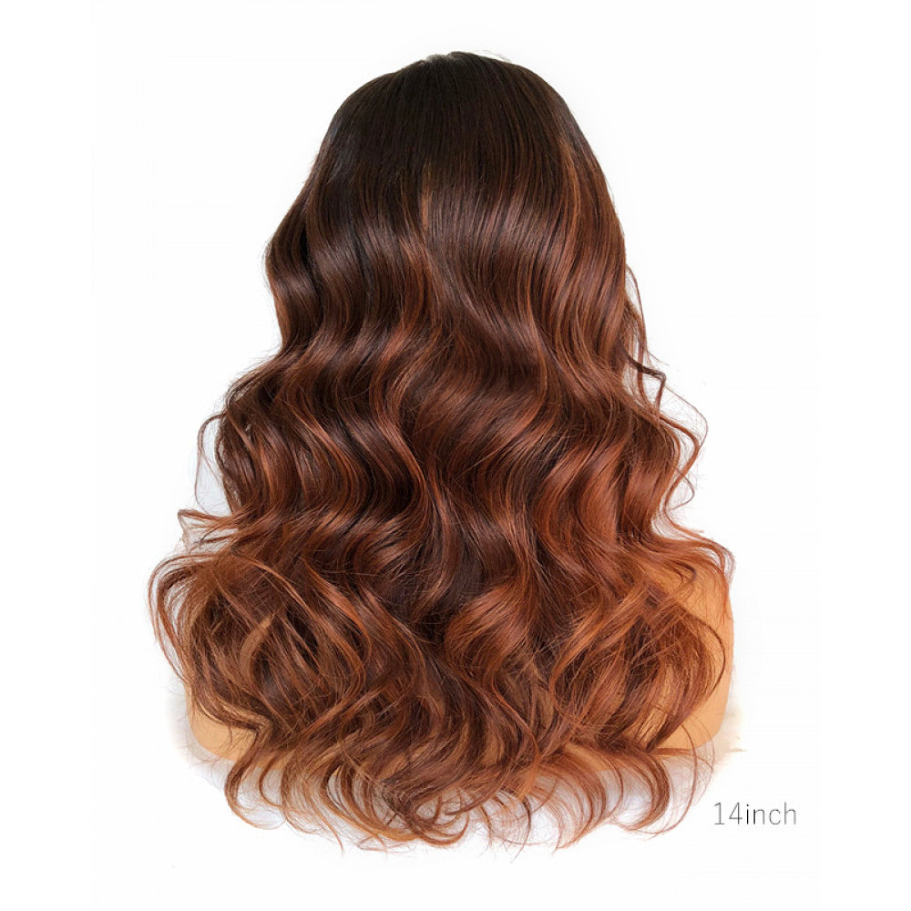 """Elektra"" Highlight Ombre Brown Hair Curly Lace Front Wig Pre-bleached"