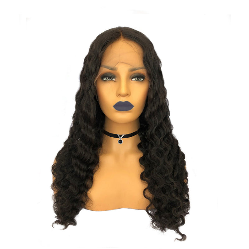 "13""x6"" Deep Part Loose Deep Curly Lace Front Wig"