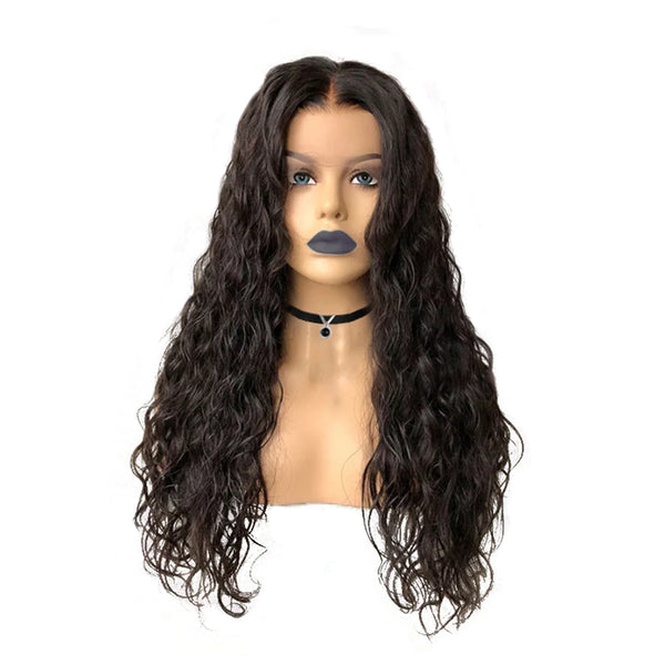 13x6 Natural Wavy Lace Front Wig