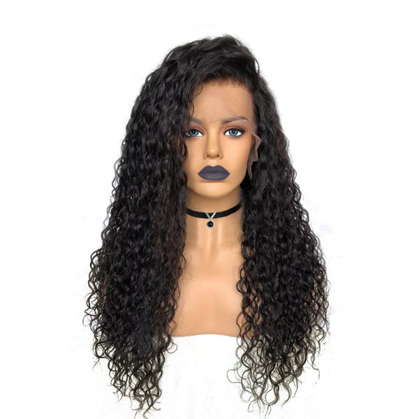 Glueless Italian Curly Lace Front Wig