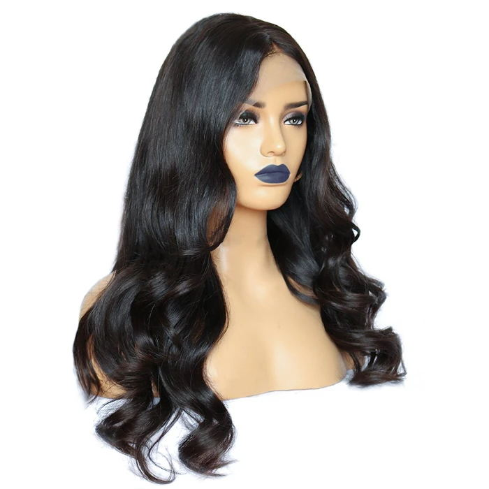13*6 Pre-plucked Transparent Lace Frontal Wigs Real Hair for Black Women