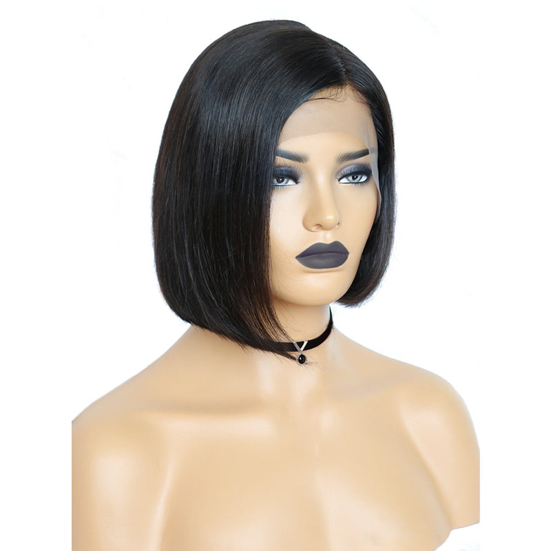 Brazilian Human Hair Lacefront Wigs Side Part Bob Style for Real Beginners