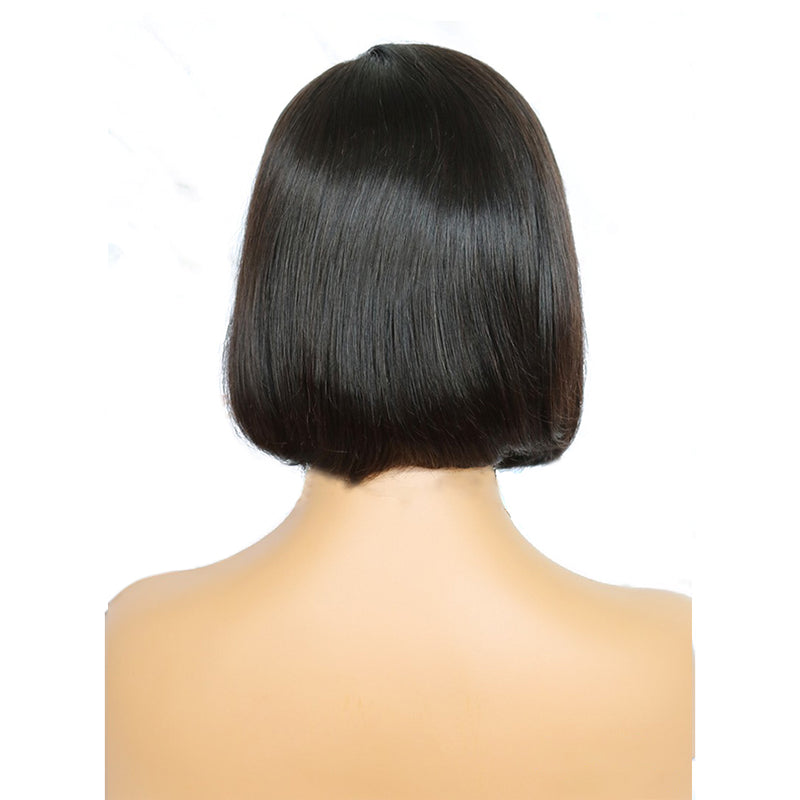 Easy Frontal Bob Side Part Wigs Brazilian Virgin Hair for Black Ladies