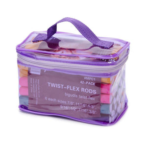42 Pack Twist-flex Rods Hair Rollers