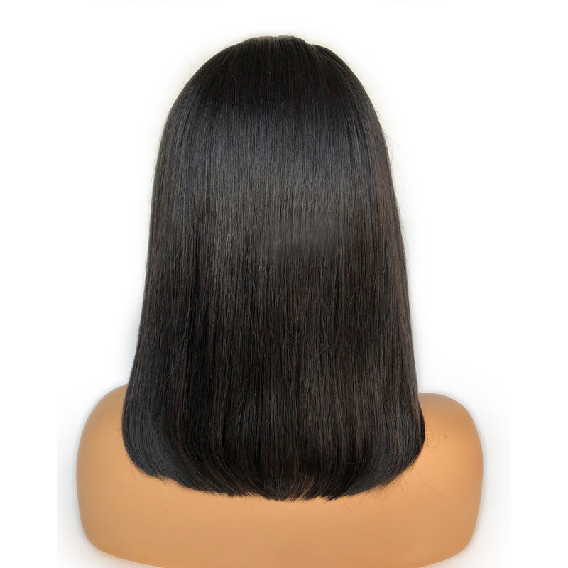 Fake Scalp Wig Bob Lace Frontal Wig Human Hair