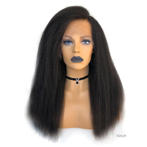 Glueless kinky Straight Lace Front Wig