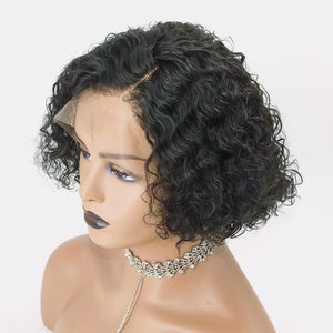 """Kaylie"" Pixie Cut Curly Short Bob Lace Front Human Hair Wigs"