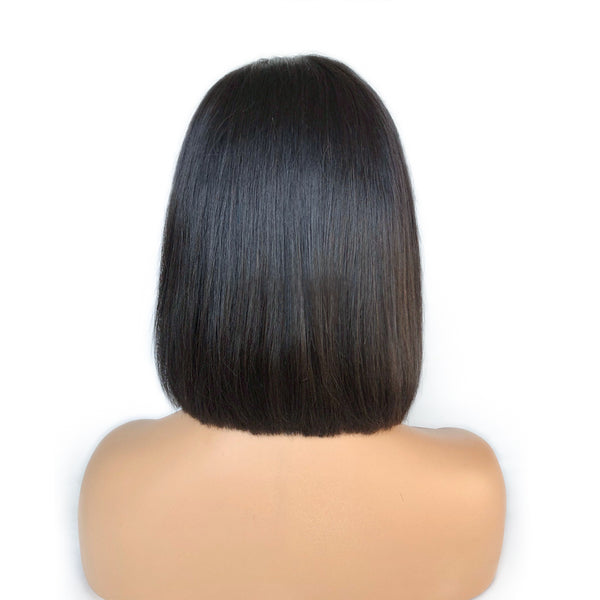 """Julia"" Pre-plucked with No Baby Hair Raw Virgin Hair Straight Bob Wig"