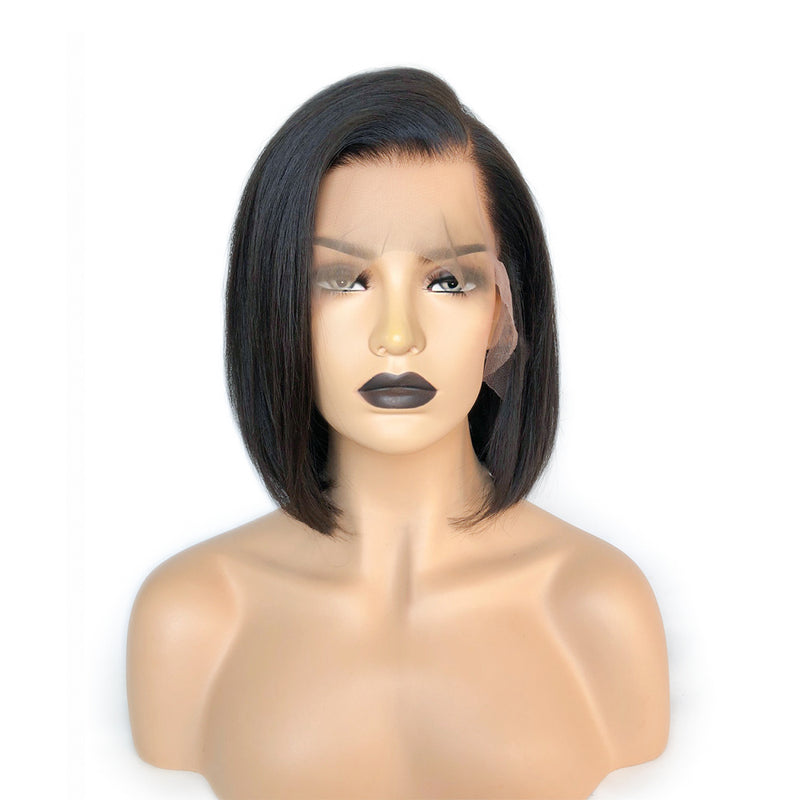 """Gloria""Side Part Whole Bleached Straight Lace Frontal Wig"