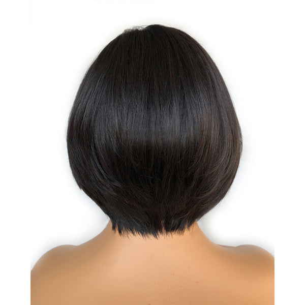"""Amanda"" Side Part Fake Scalp Lace Frontal Wig Bob Wig"