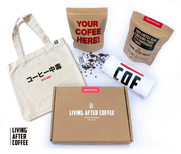 Pack Living After Coffee Tote White