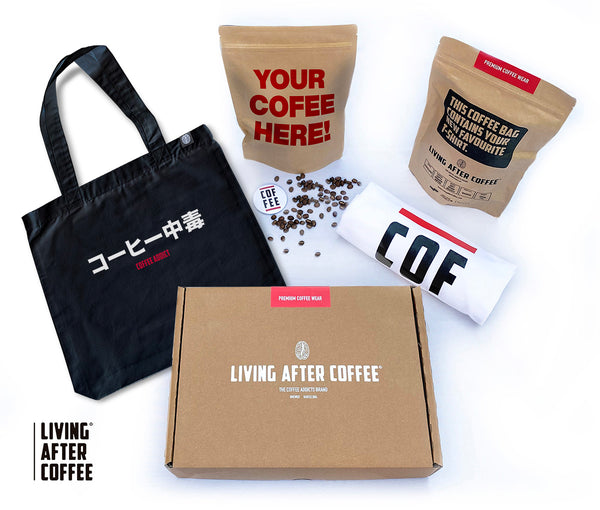 Pack Living after coffee tote bag black