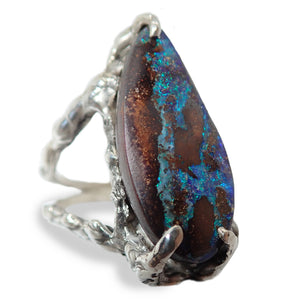 Boulder Opal With Fire Of The Ocean