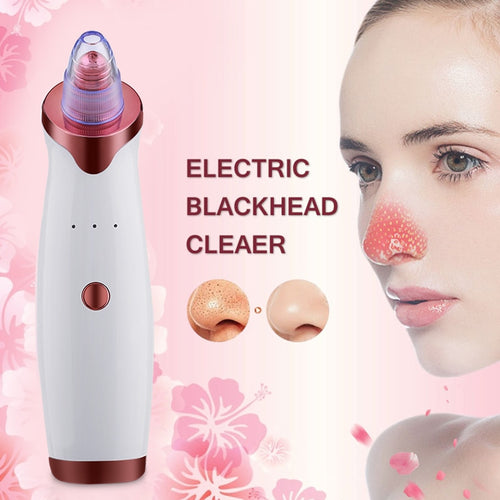 Electric Acne and Black Head Remover Vacuum Extractor Tool.  Pore Cleaner For Skin Care