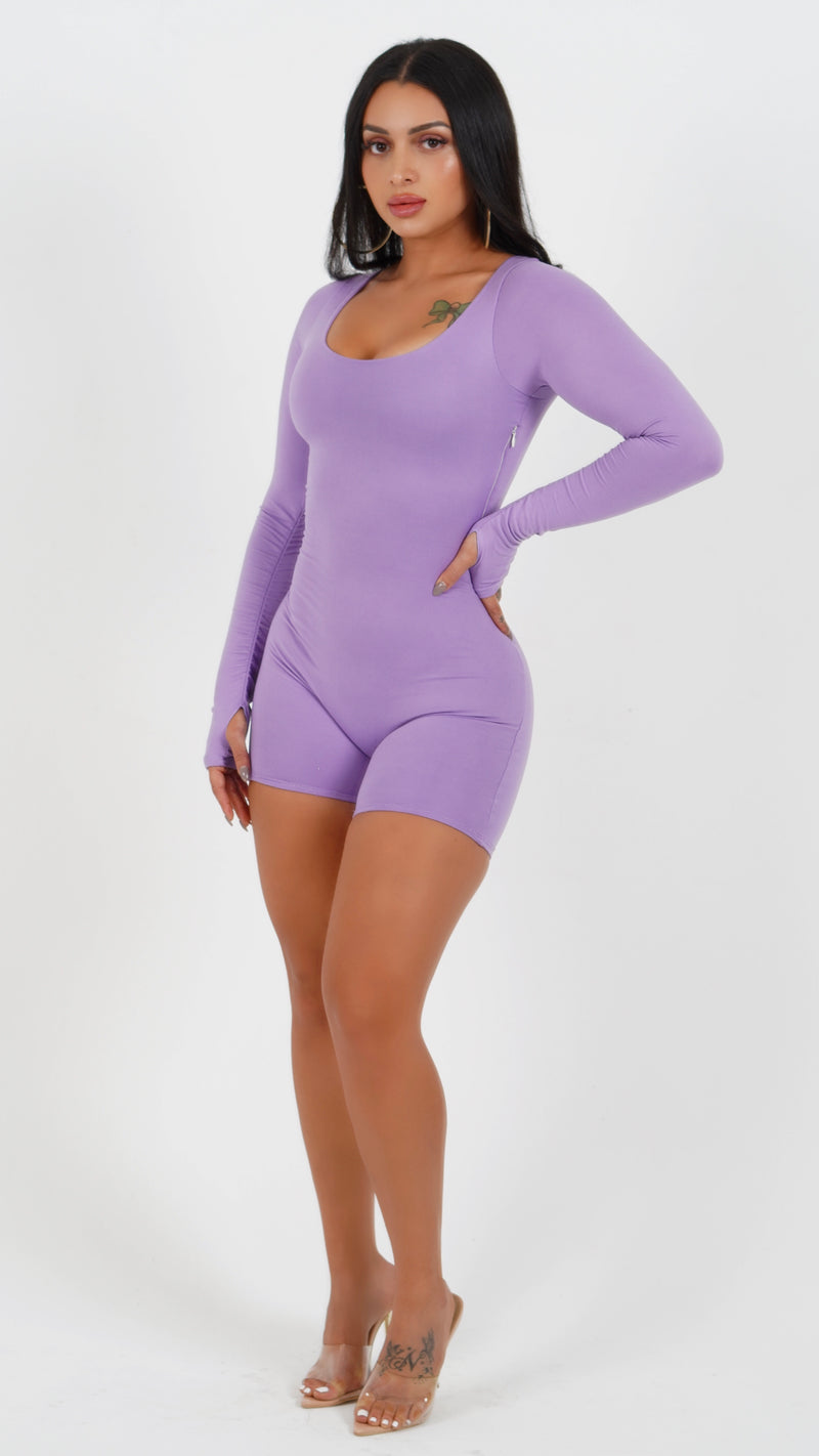 SO EASY ROMPER IN PURPLE-JUMPSUITS-Twerkish Boutique