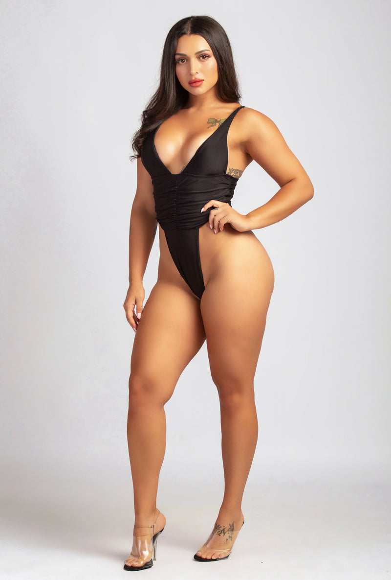 PRETTY BADDIE SWIMSUIT IN BLACK-SWIMWEAR-Twerkish Boutique