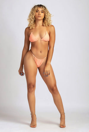 SUMMERTIME MADNESS BIKINI IN PEACH-SWIMWEAR-Twerkish Boutique