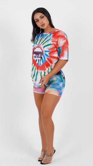 TIE DYE SHORT SET-SETS-Twerkish Boutique