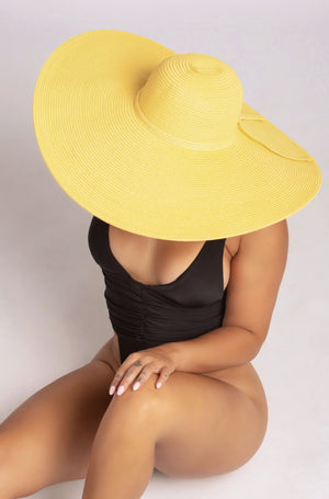 TAKE ME TO TULUM HAT IN YELLOW-ACCESSORIES-Twerkish Boutique