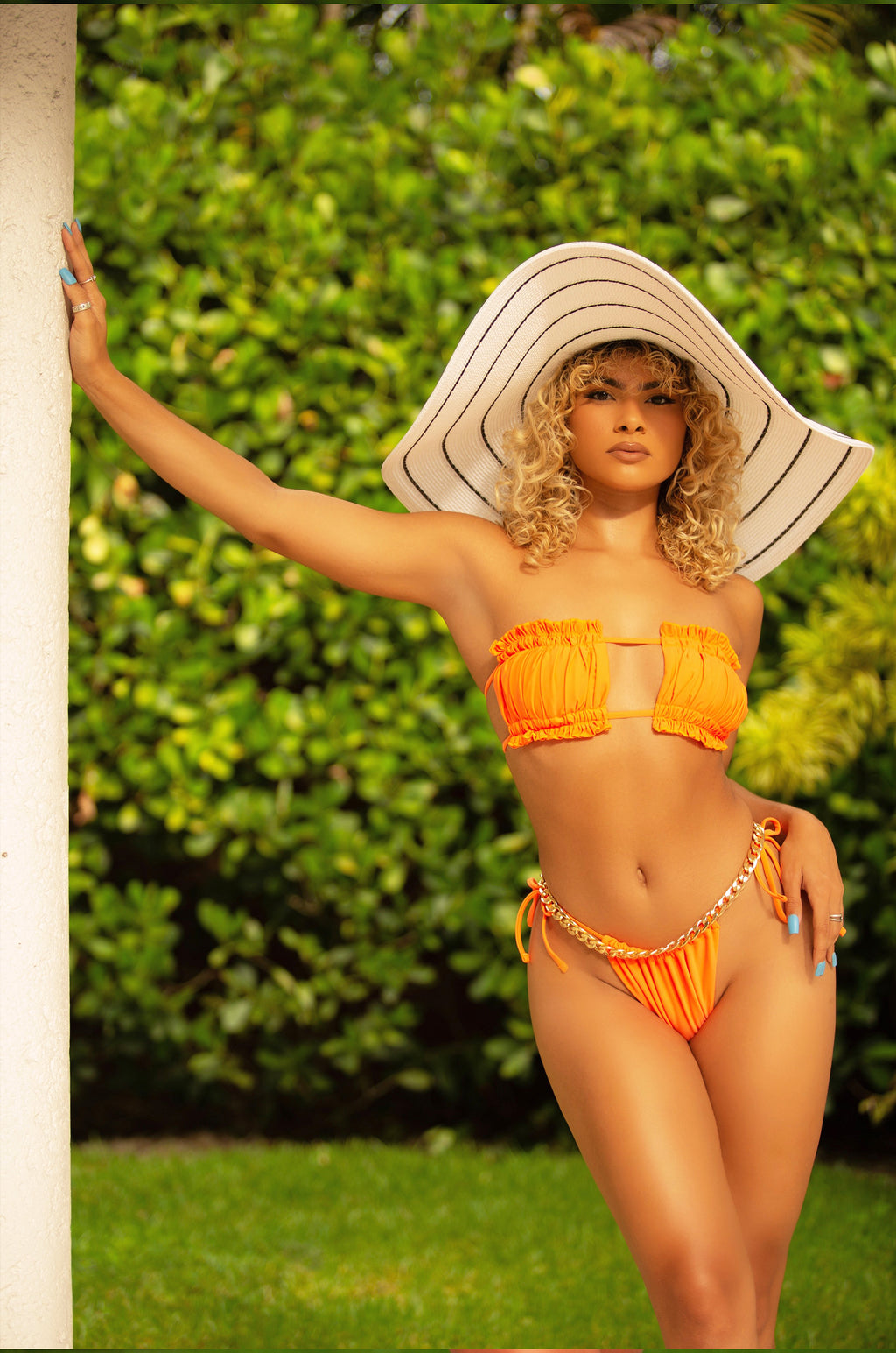 TAKE ME TO VACAY BIKINI IN ORANGE-SWIMWEAR-Twerkish Boutique