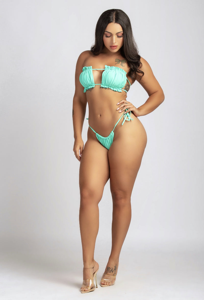 TAKE ME TO VACAY BIKINI IN BLUE-SWIMWEAR-Twerkish Boutique