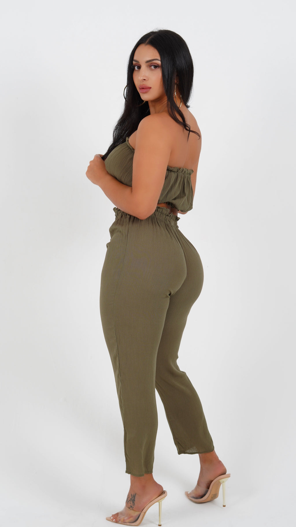BOUJIE BABE SET IN OLIVE-SETS-Twerkish Boutique