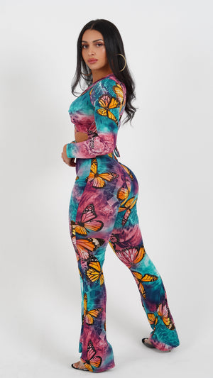 LITTLE BUTTERFLY JUMPSUIT-JUMPSUITS-Twerkish Boutique