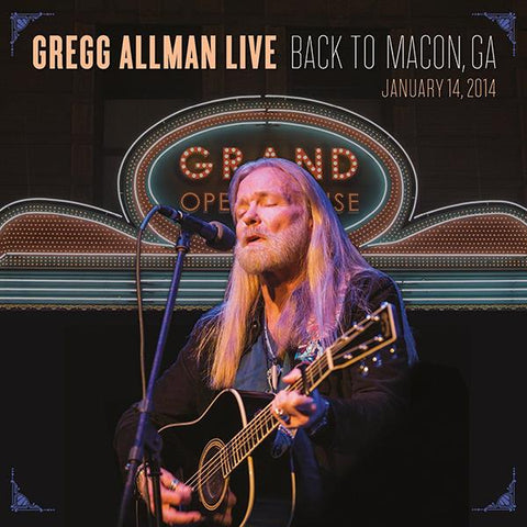 Gregg Allman: Back to Macon, GA  2-CD Set