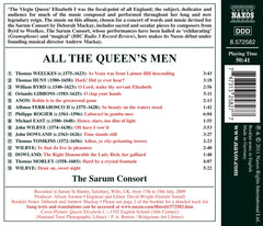 All the Queen's Men - Music for Elizabeth I