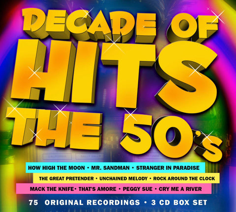 Decade Of Hits: The 50s 3-CD Set