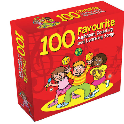 100 Favourite Alphabet Counting and Learning Songs 3CD Box Set
