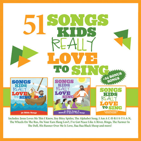 51 Songs Kids Really Love To Sing 2014 3-CD Set