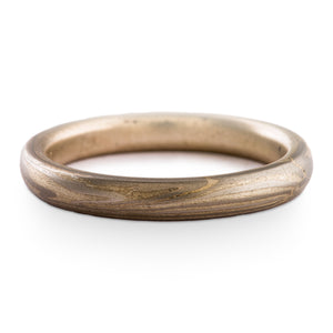 Classic Mokume Gane Ring Wedding Band Twist Pattern and Ash Palette SHIPS TODAY
