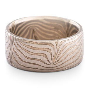 Mokume Gane Ring in Wave Pattern and Ash Palette SHIPS TODAY