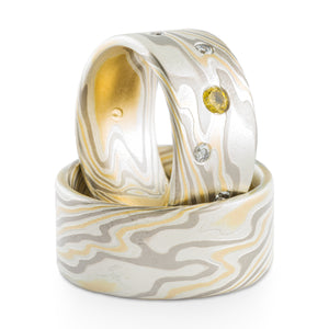 mokume gane wedding ring