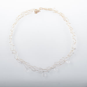 Dainty Spun Necklace with Quartz