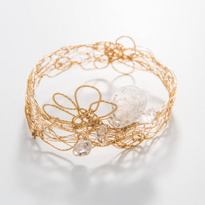 Gold Quartz Bangle