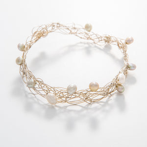 Thin Pearl Bangle