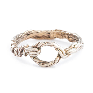 Silver Loop Twist Ring